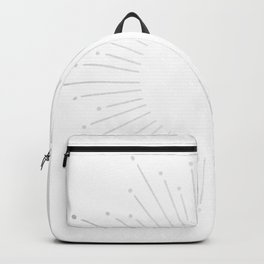 Sunburst Moonlight Silver on White Backpack