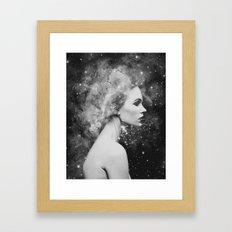 Head in the stars Framed Art Print