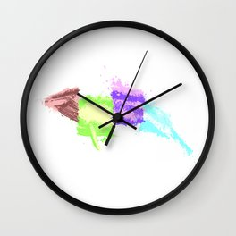 Whale Graffiti Wall Clock