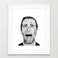 american psycho Framed Art Prints featuring American Psycho by Aoife Rooney Art