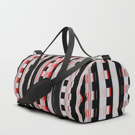 Rectangles red colors Duffle Bag