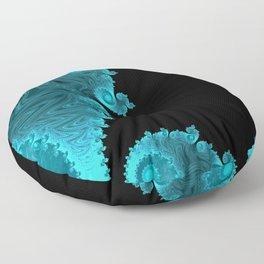 Black Ice - Fractal Art Floor Pillow