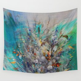 Landscape Emerald-Red Wall Tapestry