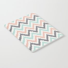 Mint Gray Coral Zigzag Pattern Notebook