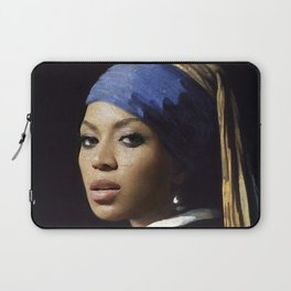 Bey with a Pearl Earring Laptop Sleeve
