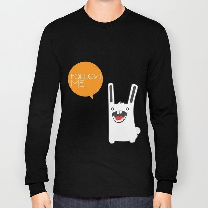 Follow The White Rabbit Long Sleeve T-shirt