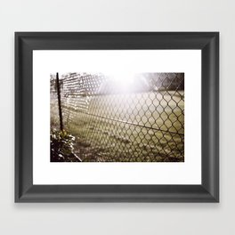 the evening sunrays  Framed Art Print