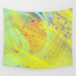 Soothing - Abstract yellow painting Wall Tapestry