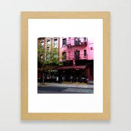 NY Streets - Cafe Borgia II SOHO Framed Art Print