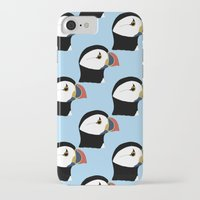 puffin iPhone & iPod Cases featuring Puffin by stephpiddillustration
