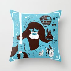 IV (Blue) Throw Pillow