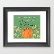 Who Knows Framed Art Print