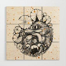 Baby Crocodile Inktober :: I Am The Unborn Wood Wall Art