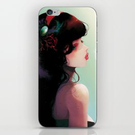 La Cantatrice en greve... iPhone Skin