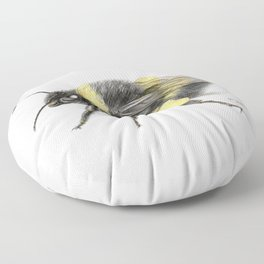 White-tailed bumblebee Floor Pillow