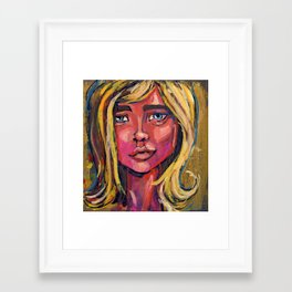 Pretty Face Framed Art Print