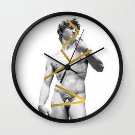 A  David Gold Statue Wall Clock