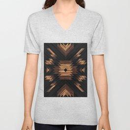 Urban Tribal Pattern No.7 - Aztec - Wood Unisex V-Neck