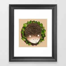 Paper Hedgehog Framed Art Print
