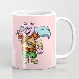 Pig knight cartoon design Coffee Mug