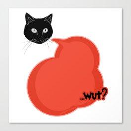Comic Style- Cute Cat Wut Canvas Print