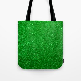Emerald Green Shiny Metallic Glitter Tote Bag