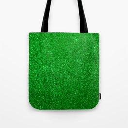 Emerald Green Shiny Metallic Glitter Tote Bag
