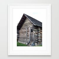cabin Framed Art Prints featuring Cabin by courtney2k ⚓ design™