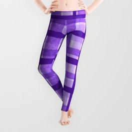 Tissue Paper Plaid - Purple Leggings