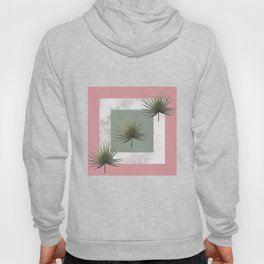 THREE PALM LEAVES & MARBLE Hoody
