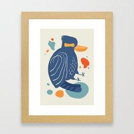 Quirky Laughing Kookaburra Framed Art Print