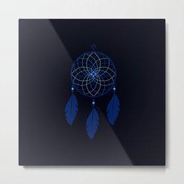 The Blue Dreamcatcher Metal Print