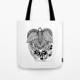 This goodbye is not forever Sympathy  - Zentangle Illustration Tote Bag