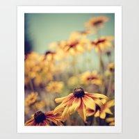 sunshine Art Prints featuring sunshine by shannonblue