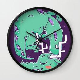 Green Sleeping Dragon Wall Clock
