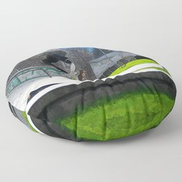 Skateboarding Fool Floor Pillow