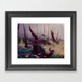 Rebirth | painted Bambi landscape Framed Art Print