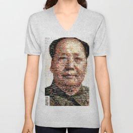 BEHIND THE FACE Mao   China Capitalism Unisex V-Neck