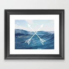 Deep sea arrows Framed Art Print