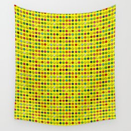 Multi-coloured Pills Pattern Wall Tapestry