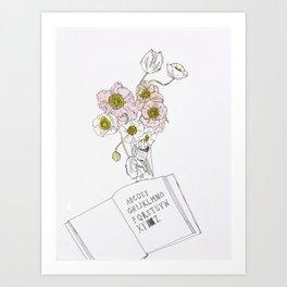 Vivid Flowers Art Print