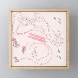 The Deeper You Go, The Weirder Life Gets Framed Mini Art Print