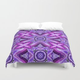 JCrafthouse Agate of Wonder in Royal Purple Duvet Cover