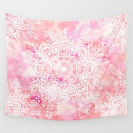 Queen Starring of Mandalas-Rose Wall Tapestry
