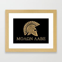 Molon lave-Spartan Warrior Framed Art Print