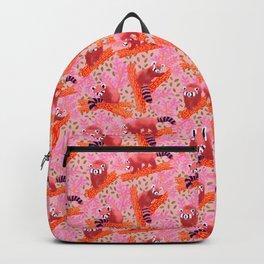 Red panda // ailurus fulgens //  summer spice tones artwork illustration // Danni Cockerill Cockerillart Backpack