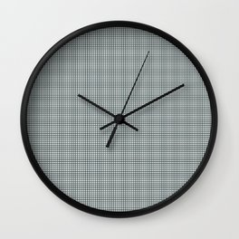 Plaid Dark Green Inspired by PPG Glidden Trending Colors of 2019 Night Watch PPG1145-7 Wall Clock