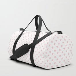 Millennial Pink Pastel Stars on White Duffle Bag