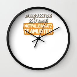 Emergency Messy Kitchen Cooking Barbecue Gift Wall Clock