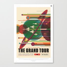 The Grand Tour : Vintage Space Poster Canvas Print
